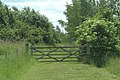 Gated path in Fosdyke nature reserve - geograph.org.uk - 70397.jpg