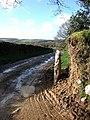 Gatepost on Bridestowe Footpath 5 - geograph.org.uk - 319321.jpg