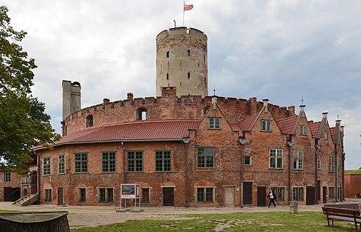 Gdańsk, Twierdza Wisłoujście, latarnia i domy oficerów