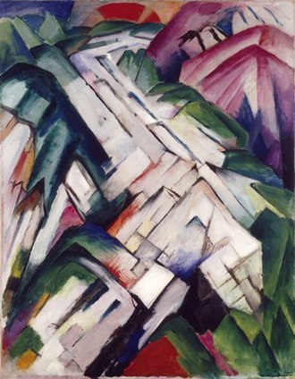 San Francisco Museum of Modern Art - Image: Gebirge (Mountains) 1911 1912 Franz Marc