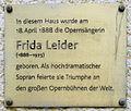 Gedenktafel Granseer Str 9 (Mitte) Frida Leider.JPG