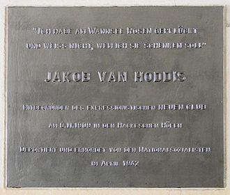 Jakob van Hoddis - Memorial plaque, Hackesche Höfe, Berlin
