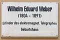 Gedenktafel Schlossstr 14-15 (Wittenberg) Wilhelm Eduard Weber.jpg