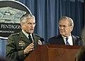 Gen. George W. Casey, Jr. and Donald Rumsfeld, Oct. 2006.jpg