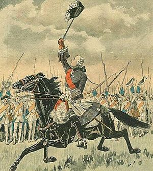 Battle of Sainte-Foy - The Chevalier de Lévis rallies his army.