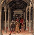 Gentile da Fabriano - Quaratesi Altarpiece - Pilgrims at the Tomb of St Nicholas of Bari - WGA08554.jpg