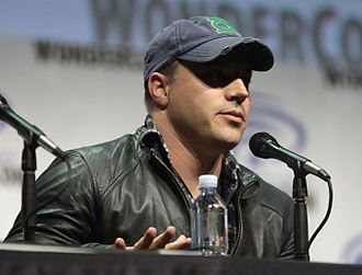 Geoff Johns - Johns speaking at the 2017 WonderCon to promote DC Comics film projects.