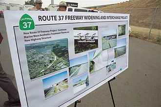 California State Route 37 - Display of the various components of the project including the SR 37/SR 29 interchange.