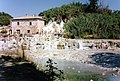 Geothermics as source of renewable energy, old mill and thermal springs, Saturnia, Italy.jpg