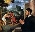 Giovanni Battista Moroni - The Baptism of Christ with a Donor - WGA16246.jpg