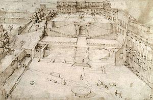 Cortile del Belvedere - Bramante's design