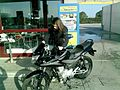 Girl on Honda CBF 125 - 05.jpg