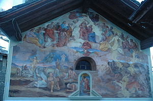 Ayas, Aosta Valley - The Last Judgment on the Church of Our Lady of Sorrows, Lignod.