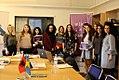 """Gjatë përfundimit të edit-a-thon """"Gratë Shqiptare në Wikipedia"""" në Tiranë.jpg"""