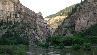 Hanging Lake - View of the Glenwood Canyon from the Hanging Lake trail.