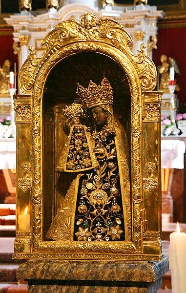 Madonnastatuen i Nådekapellet i Altötting