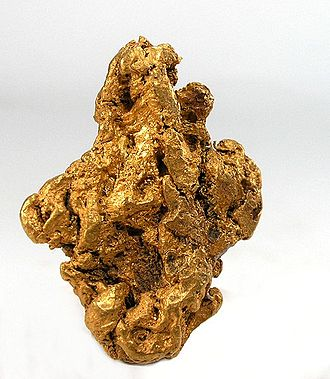 Barkerville, British Columbia - Gold nugget from  Emery Gulch, near Barkersville. Weight 35 g.
