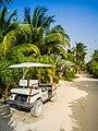 Golfcar Holbox island Mexico (20153467086).jpg