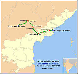Goutami Express Route map.jpg