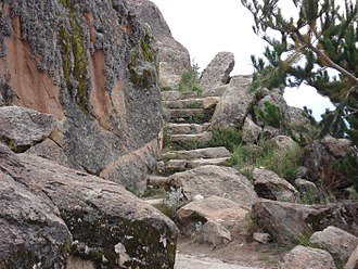 Pachat'aqa - Steps at the entrance to Pachat'aqa