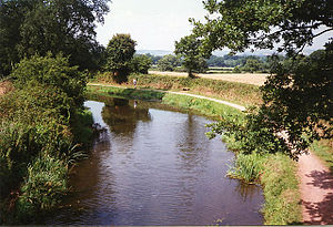 Grand Western Canal - Grand Western Canal at Halberton, Seen from Manley Bridge, looking towards Tiverton.