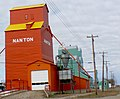 Grain elevators Nanton Alberta. (9036355917).jpg