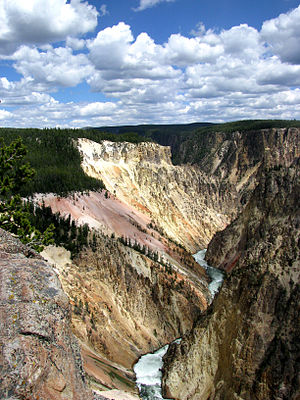 Mountain States - The Grand Canyon of the Yellowstone in Wyoming