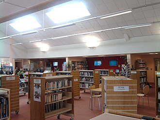 Grangetown, Cardiff - The interior of Grangetown Library