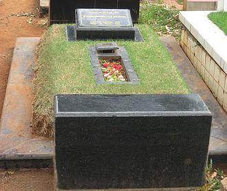 Chrisye - Chrisye's grave in Jeruk Purut Cemetery