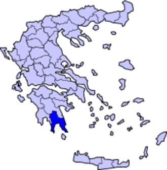 Doric Greek - Map of Laconia