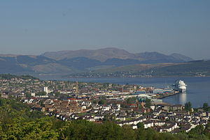 Greenock - Image: Greenock 29May 2013 Caribbean Princess