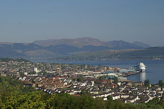 Greenock town and administrative centre in the Inverclyde council area in Scotland