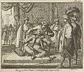 Grootvizier Kara Mustafa met een zijden koord gewurgd, 1683, Caspar Luyken, 1689.jpg