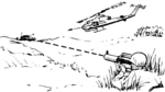 Ground-based laser illumination of a targeted tank.png