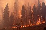 1988年9月7日大火烧到老忠实泉建筑物