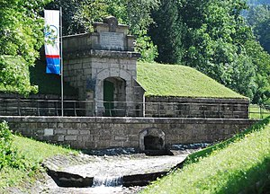 First Vienna Mountain Spring Pipeline - The water tower at Kaiserbrunnen