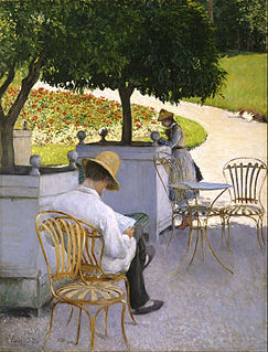 <i>Les Orangers</i> painting by Gustave Caillebotte