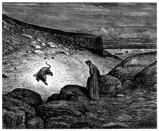 Gustave Doré - Dante Alighieri - Inferno - Plate 2 (the panther)