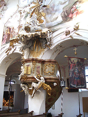 Gutenzell Abbey - Pulpit at monastery church