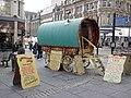 Gypsy caravan, Bigg Market, Newcastle - geograph.org.uk - 1707700.jpg