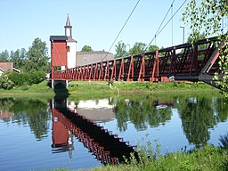 KirkeÄlvbroen og kirken i Dala-Floda