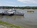 Hófehérke (ship, 1895) and boat-bus, 2018 Újlipótváros.jpg