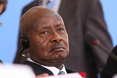 H.E Yoweri Kaguta Museveni, President of Uganda at the Somalia Conference in London, 7 May 2013.jpg