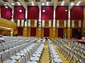 HK 福建中學 FSS FKSSch Fukien Secondary School grand hall interior row grey plastic chairs Sept 2016 DSC 06.jpg