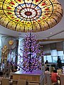 HK 銅鑼灣 Causeway Bay 富豪香港酒店 Regal Hong Kong Hotel restaurant interior colorful glass ceiling August 2018 SSG 01.jpg