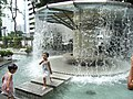 HK Park Fountain Pavilion round children visitors Aug-2012.JPG