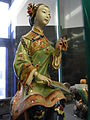 HK Sheung Wan Civic Centre 陶藝人物塑像 Ceramic sculpture 2 Chinese sitting woman figure April-2012.JPG