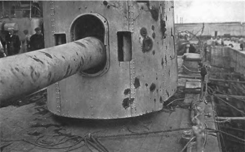 File:HMS Warspite No 7 6 inch gun after Jutland.jpg