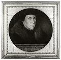 HUA-106433-Portret van Jan van Scorel geboren 1495 kunstschilder en kanunnik van St Marie te Utrecht overleden 1562 Borstbeeld rechts in cirkel in vierkante lijs.jpg