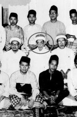 Alwi bin Thahir al-Haddad - Habib Alwi Thahir Al-Haddad (circled), in Johor